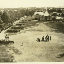 Military drill ca World War I