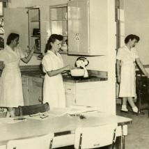 Home economics class in 1950