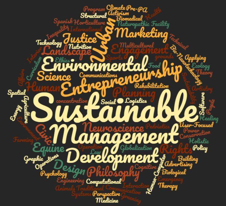 Sustainability wordle
