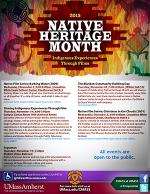 Native Heritage Month flyer
