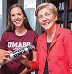 Elizabeth Warren and Heather Ducharme '16