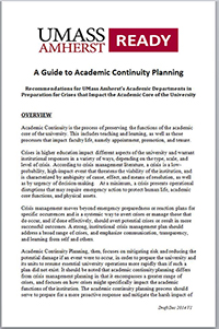 Guide to Academic Continuity Planning