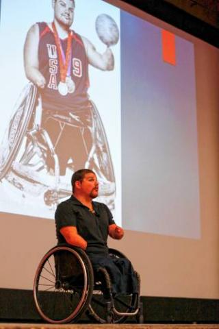 Paralympic gold medalist Nicholas Springer