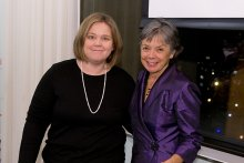 Samantha Schecnk and CRF Associate Director Wendy Varner at the CRF Annual Dinner in 2014