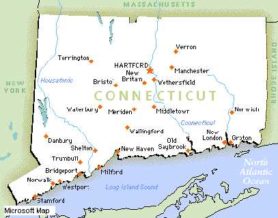 Untitled Document - Connecticut state map