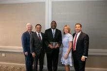 Wilmore Webley receives Manning Teaching Award