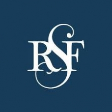 Russell Sage Foundation logo white RSF on blue background