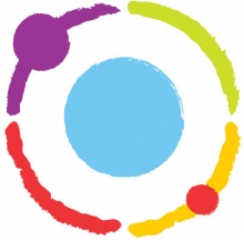 CBPR logo: Blue circle surrounded by multicolor ring: purple, lime, gold, red