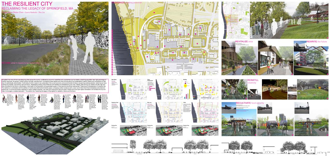 The Resilient City - Reclaiming the Legacy of Springfield, MA by Meilan Chen, Laura Keskula and Shu Liu