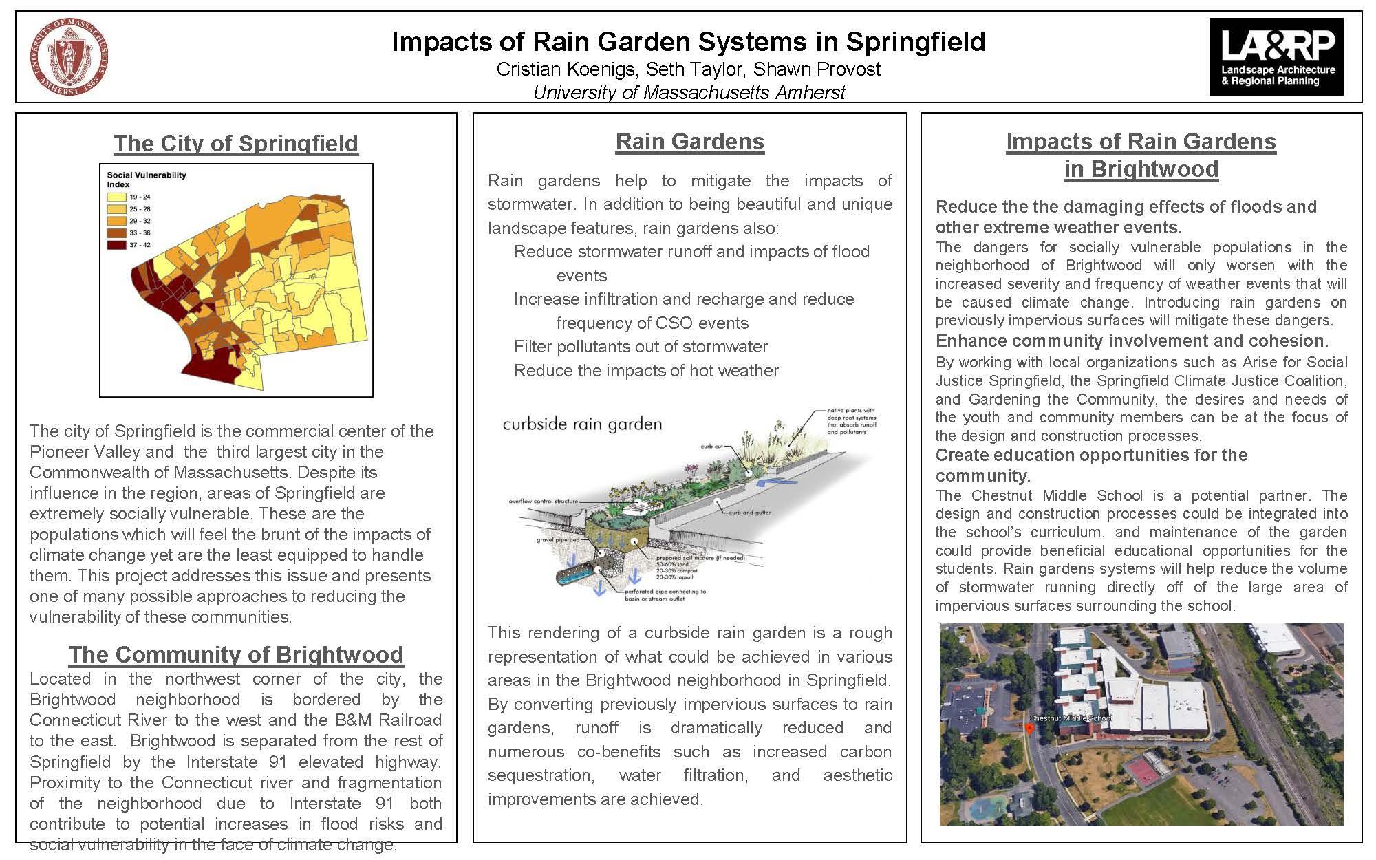 Impacts of Rain Garden Systems in Springfield - Cristian Koenigs, Seth Taylor, Shawn Provost