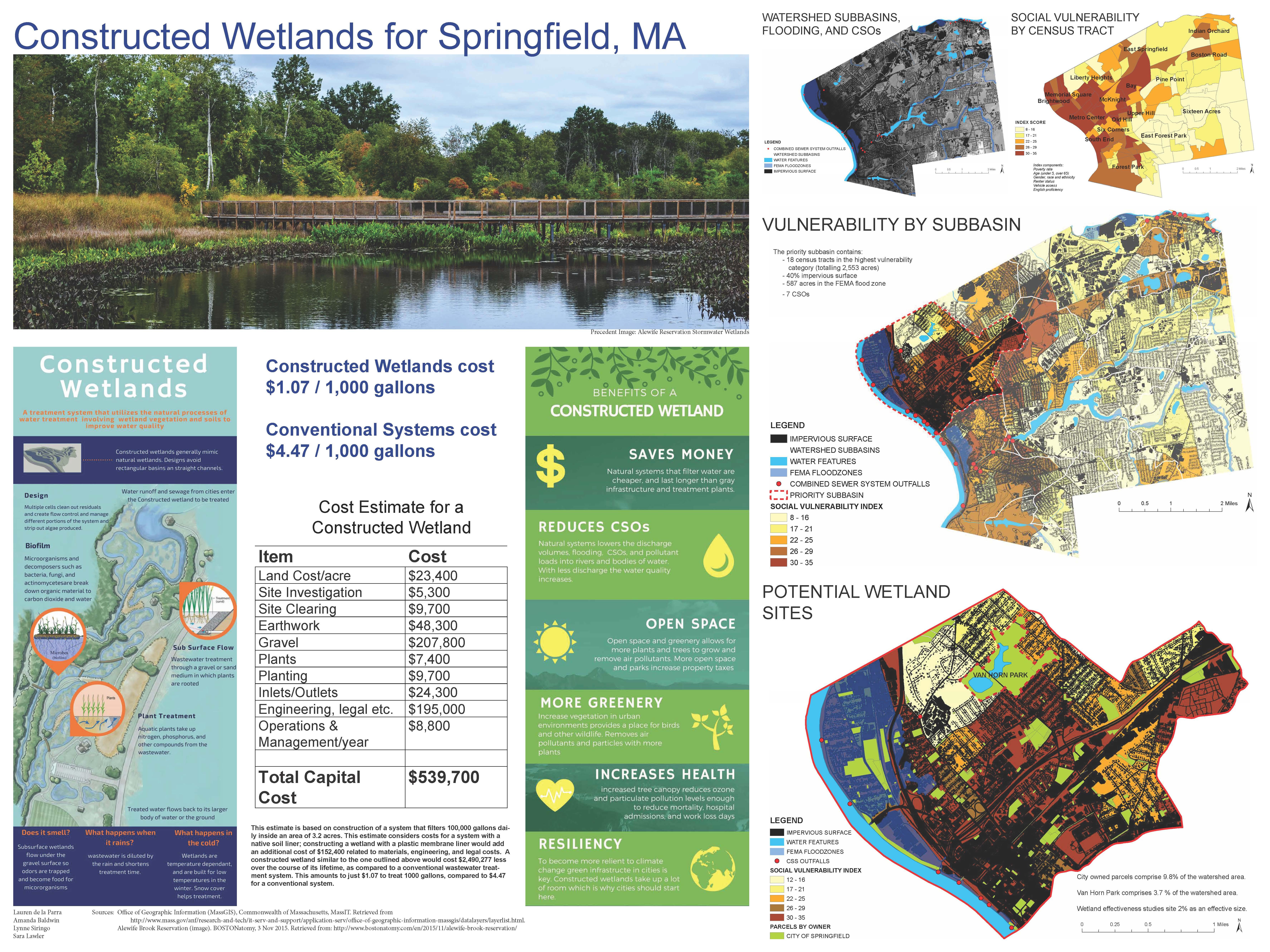 Constructed Wetlands for Springfield, MA -Lauren de la Parra, Amanda Baldwin, Lynne Siringo, Sara Lawler