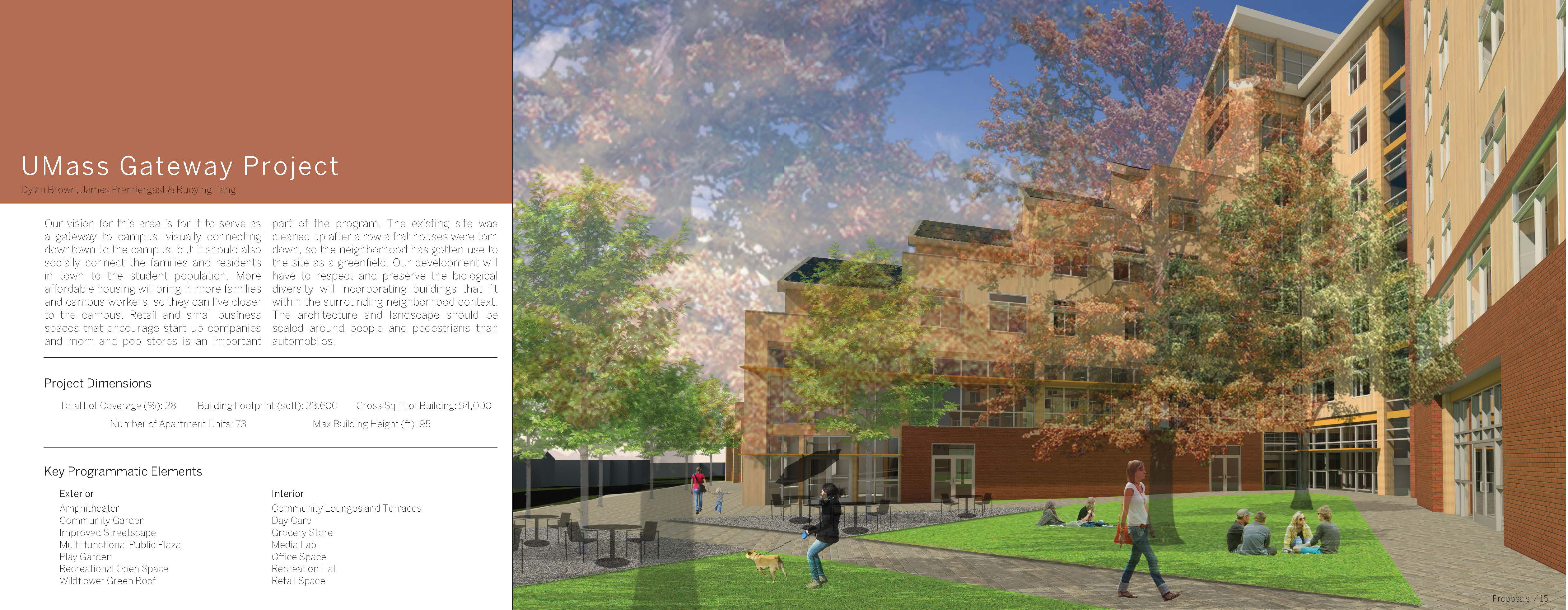 UMass Gateway Project - Dylan Brown, James Prendergast & Ruoying Tang