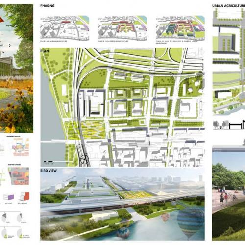 """G.A.T.E. Green Infrastructure. Art. TOD. Elasticity - A Gateway for a Sustainable Future in Springfield"" by Zhuoya Deng and Bin Liu"
