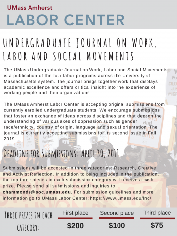 Undergraduate Journal on Work, Labor and Social Movements: A