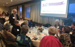 Dean Stephen Cavanagh chats with members of Class of 1968