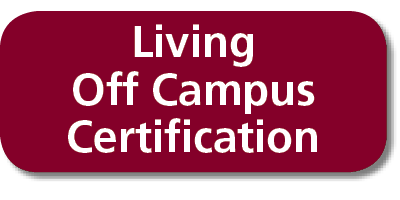 Living Off Campus Certification