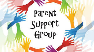 Image of hands around Parent Support Group text