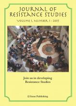Inaugural issue of The Journal of Resistance Studies published