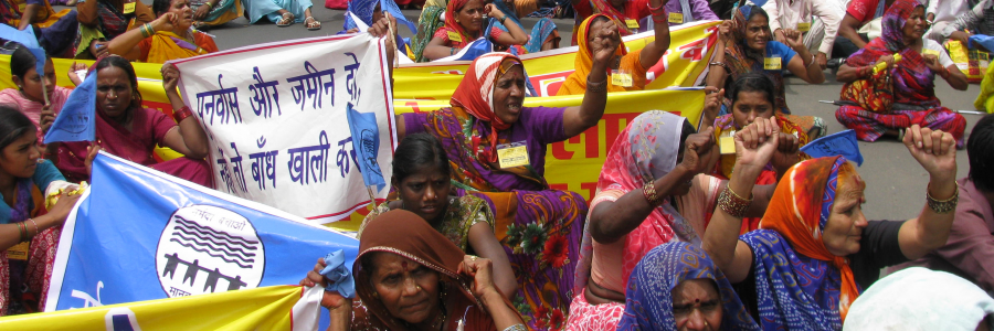 Anti-Dam protest in India  Photo credit Narmada Bachao Andolan (NBA)