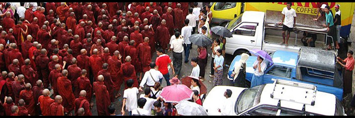 Saffron Revolution, Burma  Photo Credit: Citizen Journalist