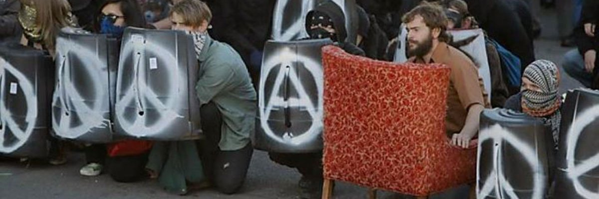 The Armchair Anarchist, Occupy Oakland, CA   Photo credit: Zakk Flash/Indybay.org