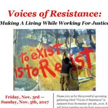 Voices of Resistance: Making A Living While Working For Justice