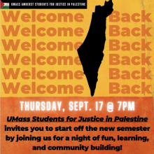 poster for Welcome Back night