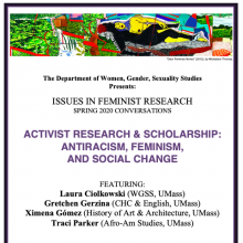 poster for Activist Research & Scholarship: Antiracism, Feminism, and Social Change Panel - March 10th