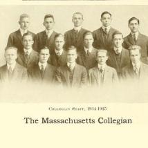 The Massachusetts Collegian staff, 1914-1915