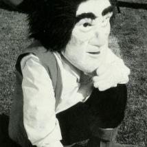 Sam the Minuteman mascot in 2001