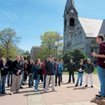 Campus tour guide in 2012