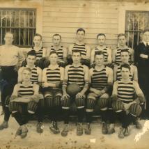 Early varsity basketball team