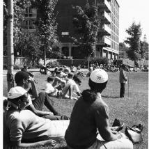 Students in Southwest residential area