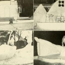 Greek Week ice sculptures in 1950