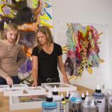 Kim Carlino in the studio