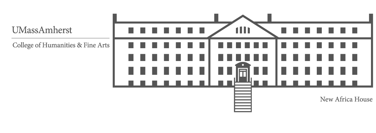 Stylized rendering of the New Africa House, home of the W.E.B. Du Bois Department of Afro-American Studies