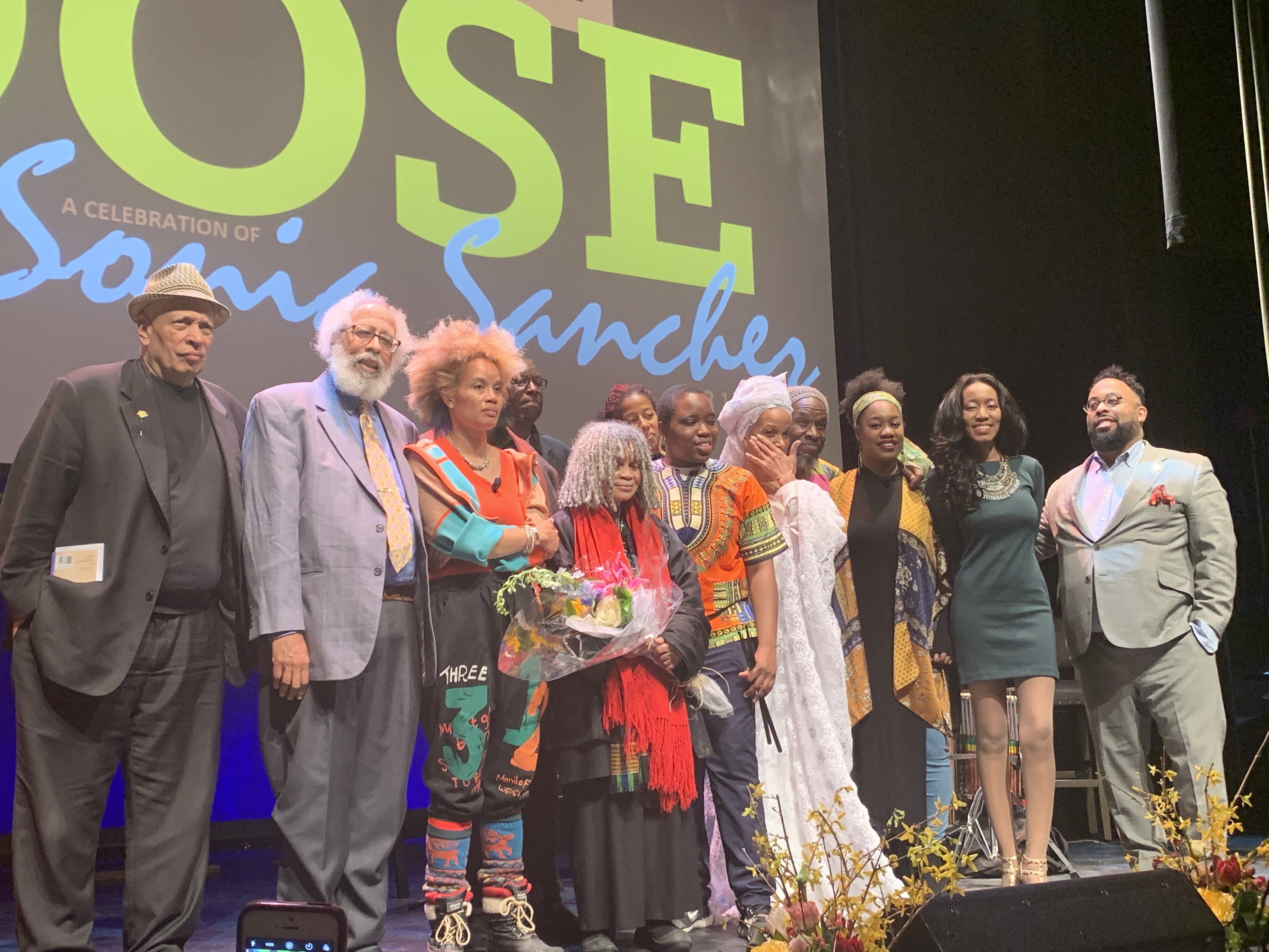picture of speakers at Sonia Sanchez Celebration