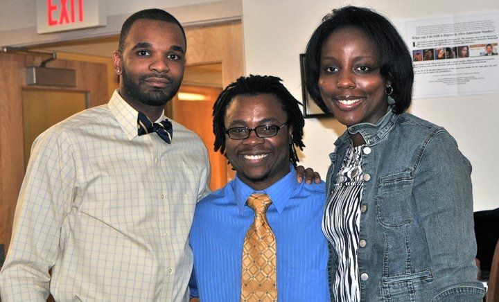 picture of three doctoral graduates in Afro-American Studies