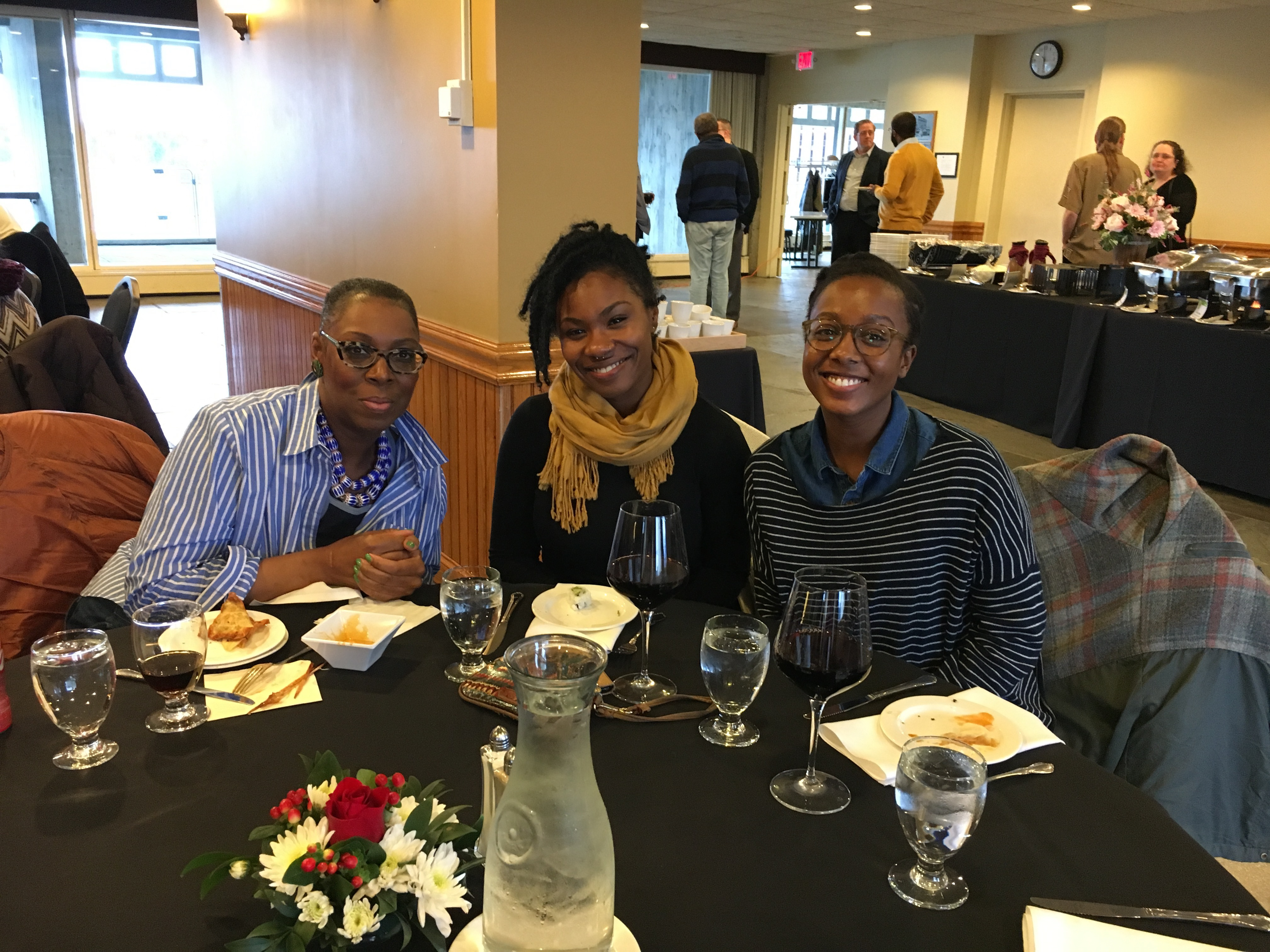 picture of three graduate students in Afro-American Studies
