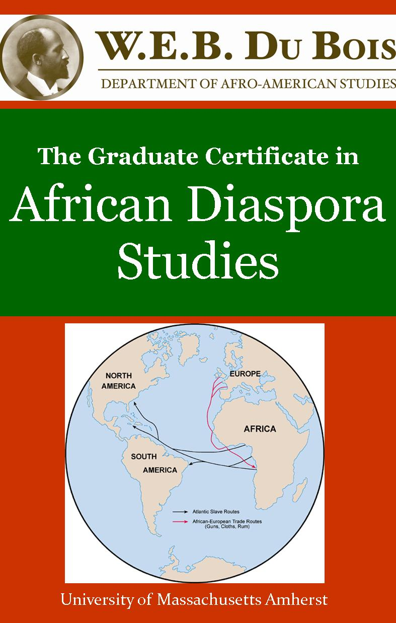 Picture of flyer for Graduate Certificate in African Diaspora Studies