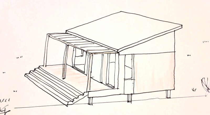 student sketch of micro house design