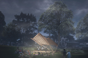 Amherst band shell design