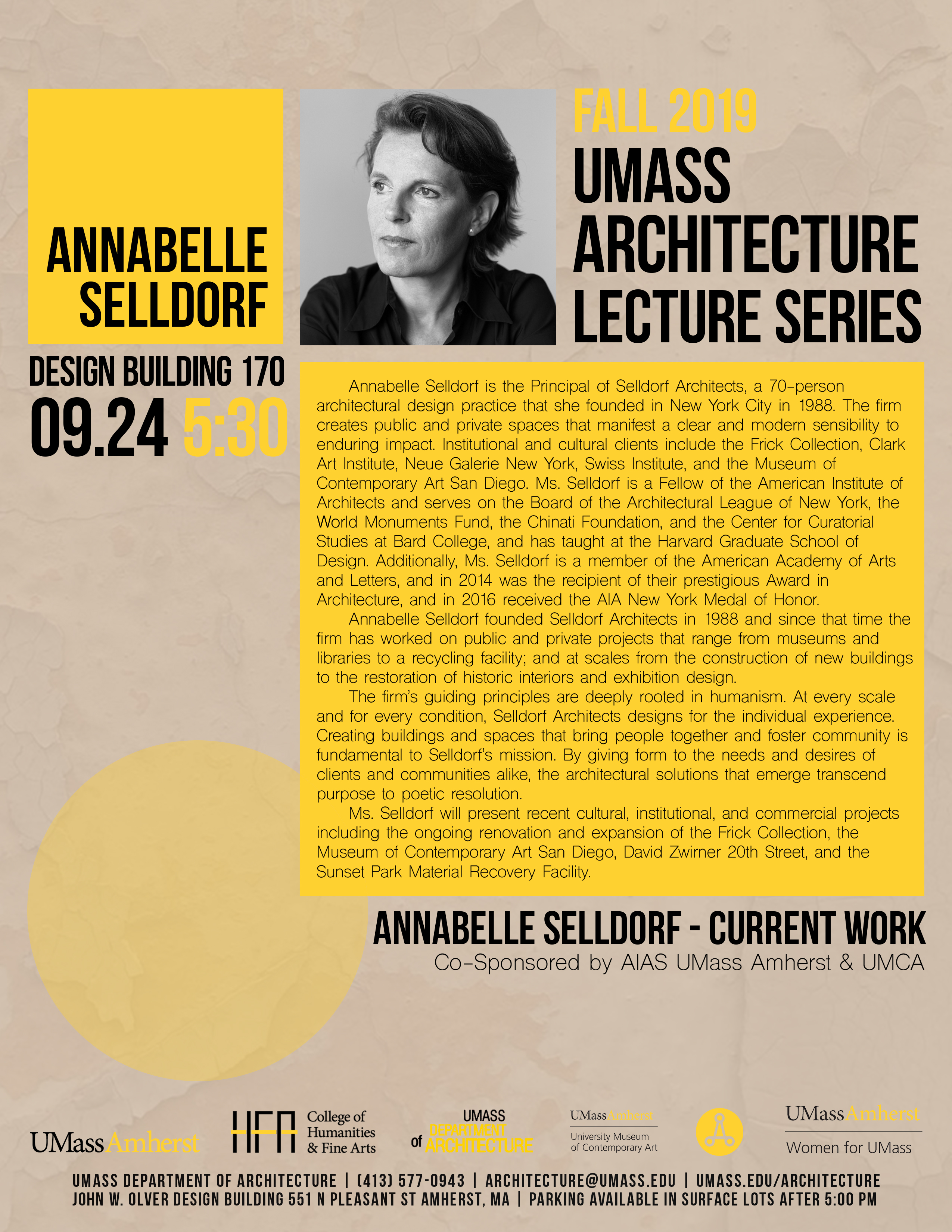 Annabelle Selldorf lecture poster