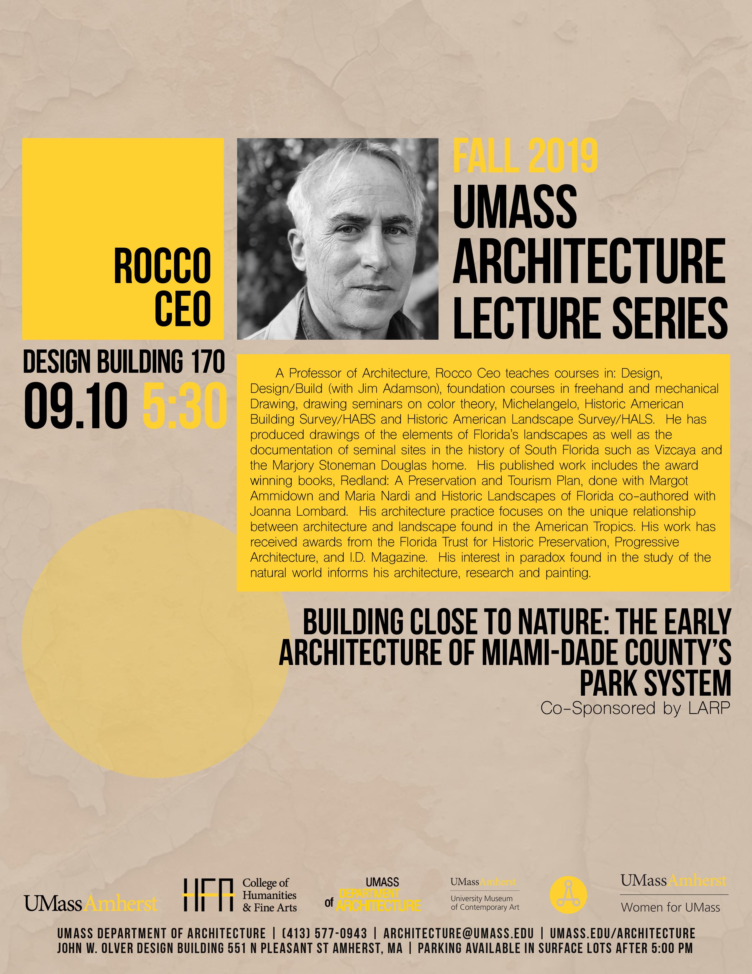 Rocco Ceo lecture poster