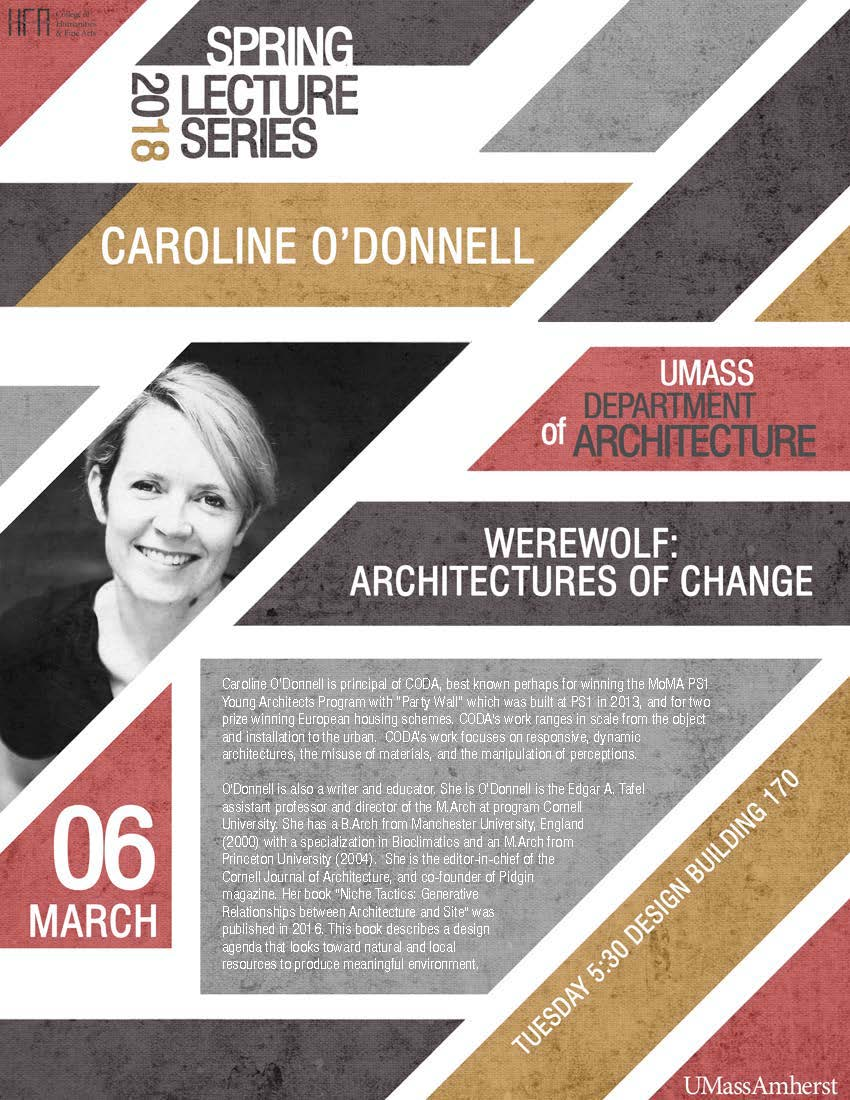 Caroline O'Donnell lecture poster