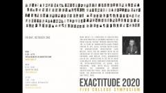 UMass Department of Architecture Exactitude Symposium - Fall 2020 - Mark Wigley