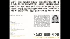 UMass Department of Architecture Exactitude Symposium - Fall 2020 - Sunil Bald