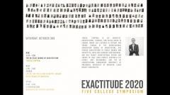 UMass Department of Architecture Exactitude Symposium - Fall 2020 - Teresa Stoppani