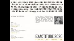 UMass Department of Architecture Exactitude Symposium - Fall 2020 - Alicia Imperiale
