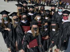 Group of undergrads at commencement